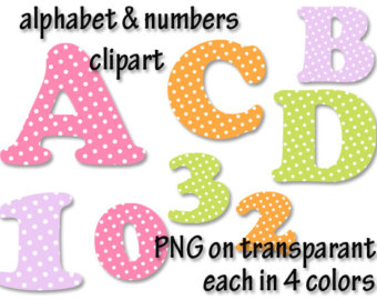 Number clipart scrapbook Fonts Etsy letters clip number