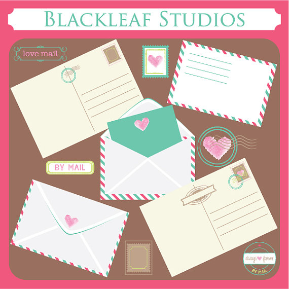 Letter clipart postal Card Clip Use Cards by