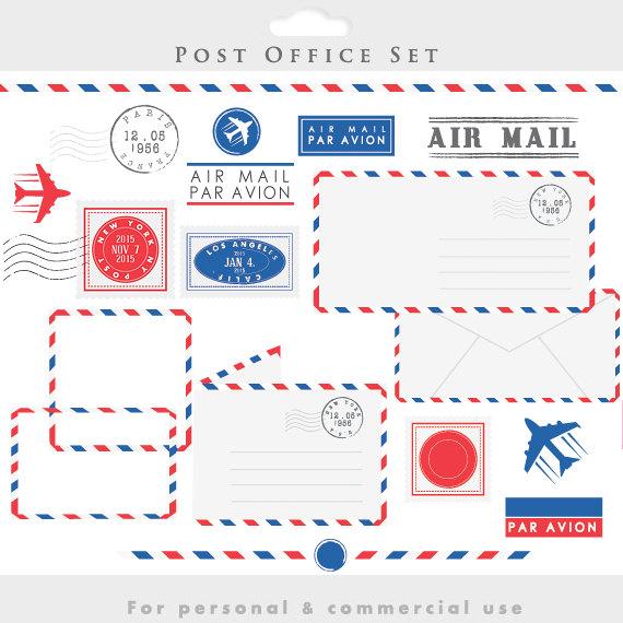 Letter clipart postal Postage stamps clipart office par