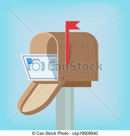 Box clipart postage Postal Postal letter Vector EPS