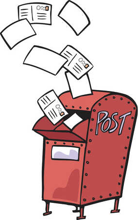 Letter clipart postal With box of Drawing mail