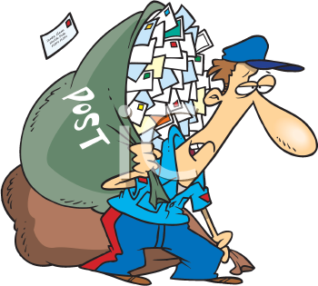 Letter clipart postal Large Mailman Art Mailbox of