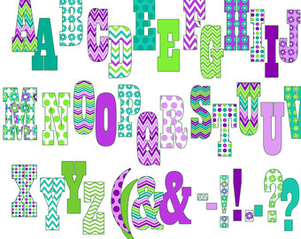 Number clipart printable  Clipart Letters Printable