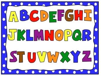 Lettering clipart alphabetical order Alphabet art numbers colors clip