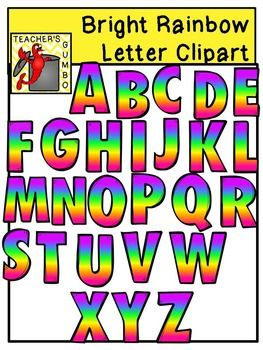 Letter clipart rainbow Number ideas Pinterest Rainbow Letter