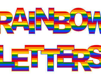 Letter clipart rainbow Clipart Greeting graphics Digital Alphabet