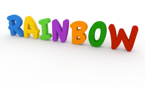 Letter clipart rainbow 3D Clip Letters RAINBOW Characters