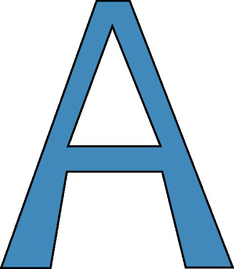 Larger clipart letter a Clip Alphabet Letter Blue clipart