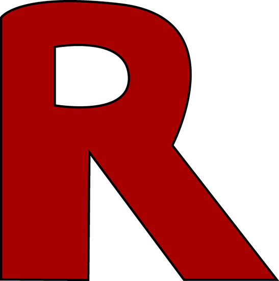 Larger clipart letter a Letter R R R Red