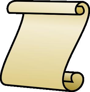 Paper clipart roled Roll clip com Papyrus