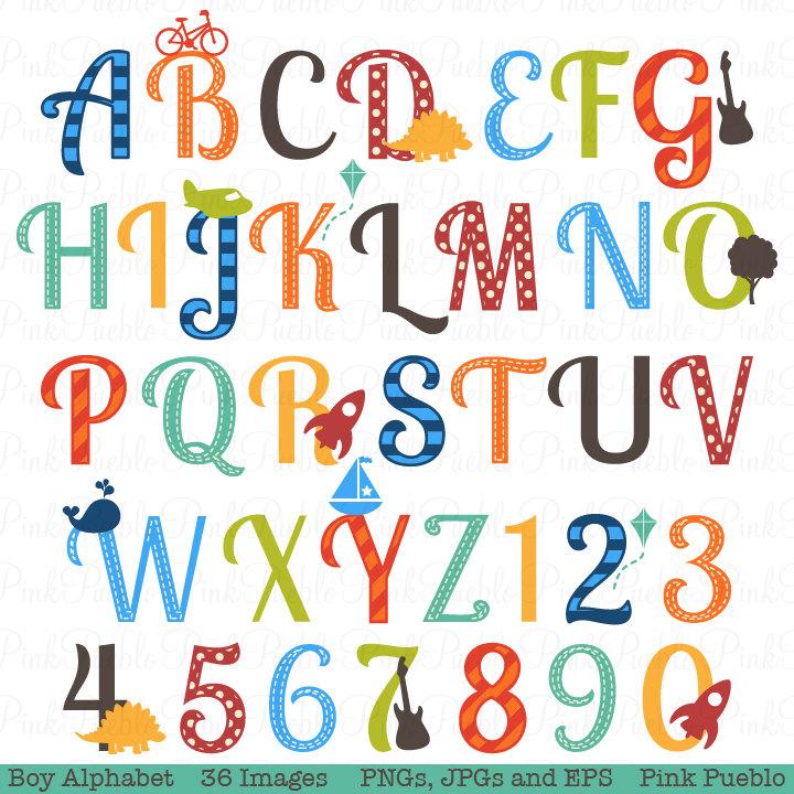 Lettering clipart scrapbook Item? Like Letters Clip Boy
