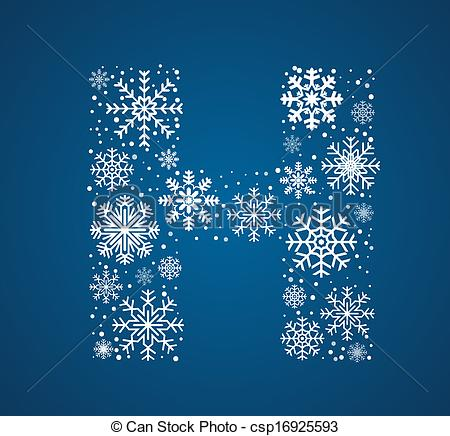 Letter clipart snowflake Frosty Letter vector H font