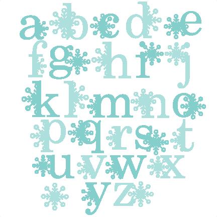 Letter clipart snowflake Cricut Alphabet file Snowflake SVG