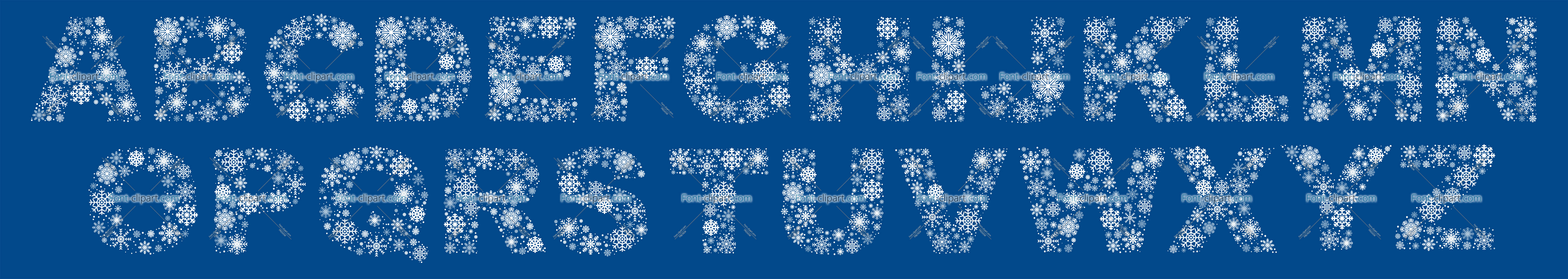 Letter clipart snowflake SnowFlakes Uppercase A letter »
