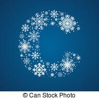 Letter clipart snowflake Source Letter vector C graphic