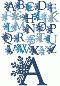 Letter clipart snowflake *  Silhouette Store Online