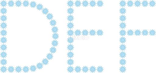 Letter clipart snowflake D Single Letter E D