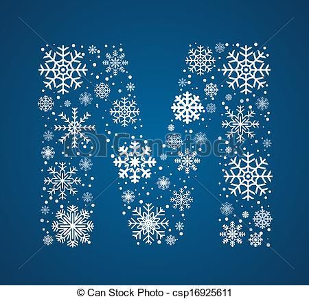 Letter clipart snowflake Font Letter vector M vector