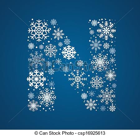 Letter clipart snowflake Font Letter vector N vector