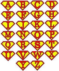 Superman clipart letter Letter ClipArt Initial Pinterest Best