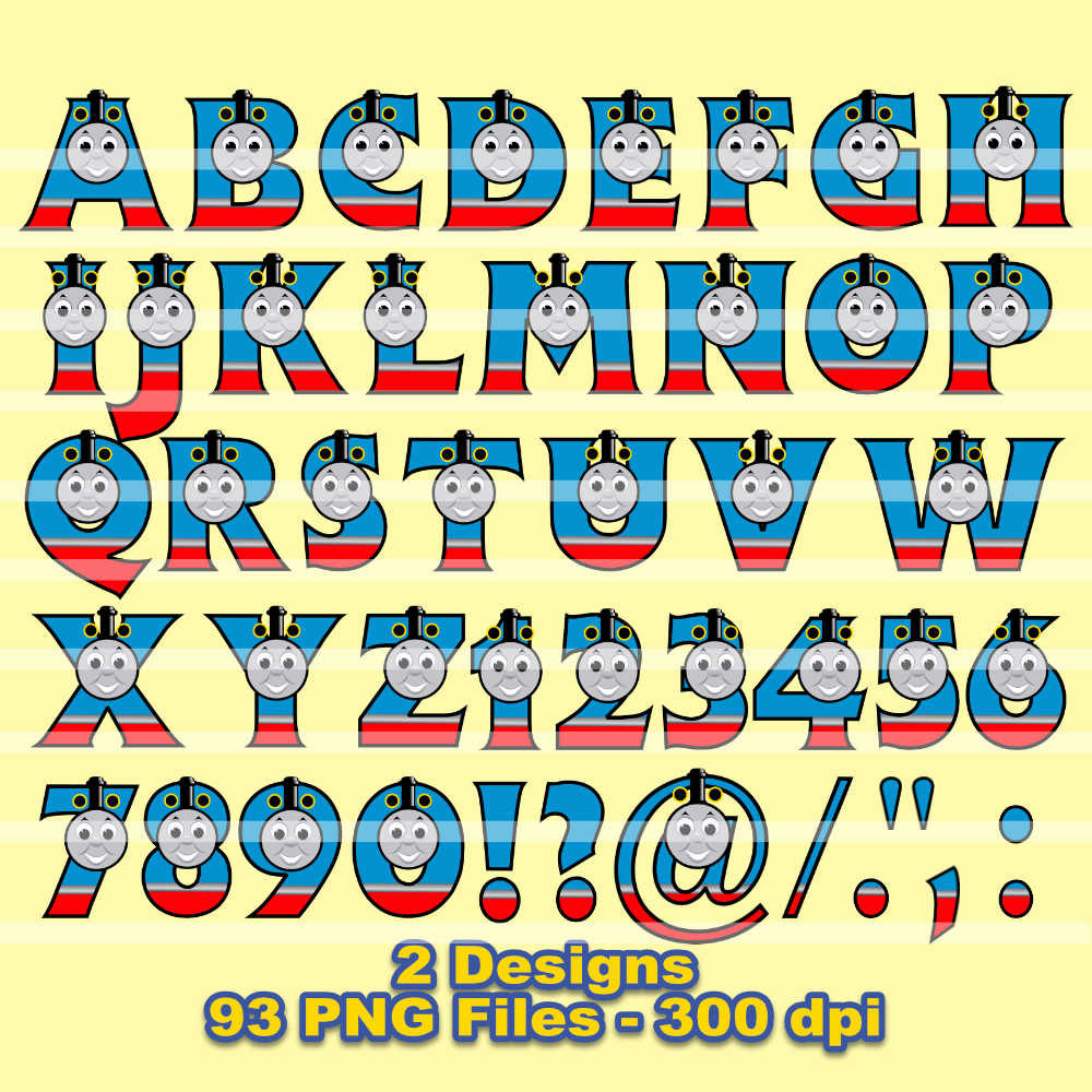 Letter clipart train 300 is Thomas  file