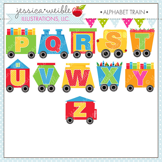 Letter clipart train Personal Digital for  travers