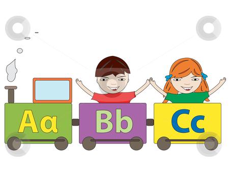 Letter clipart train Alphabet alphabet An stock vector