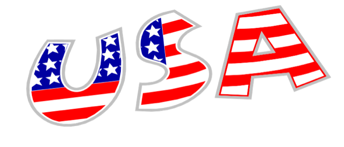 Miniature clipart american flag And USA filled USA Graphics