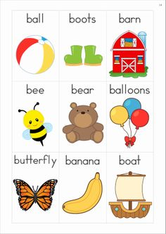 Letter clipart vocabulary FREE Bb wall (81 A