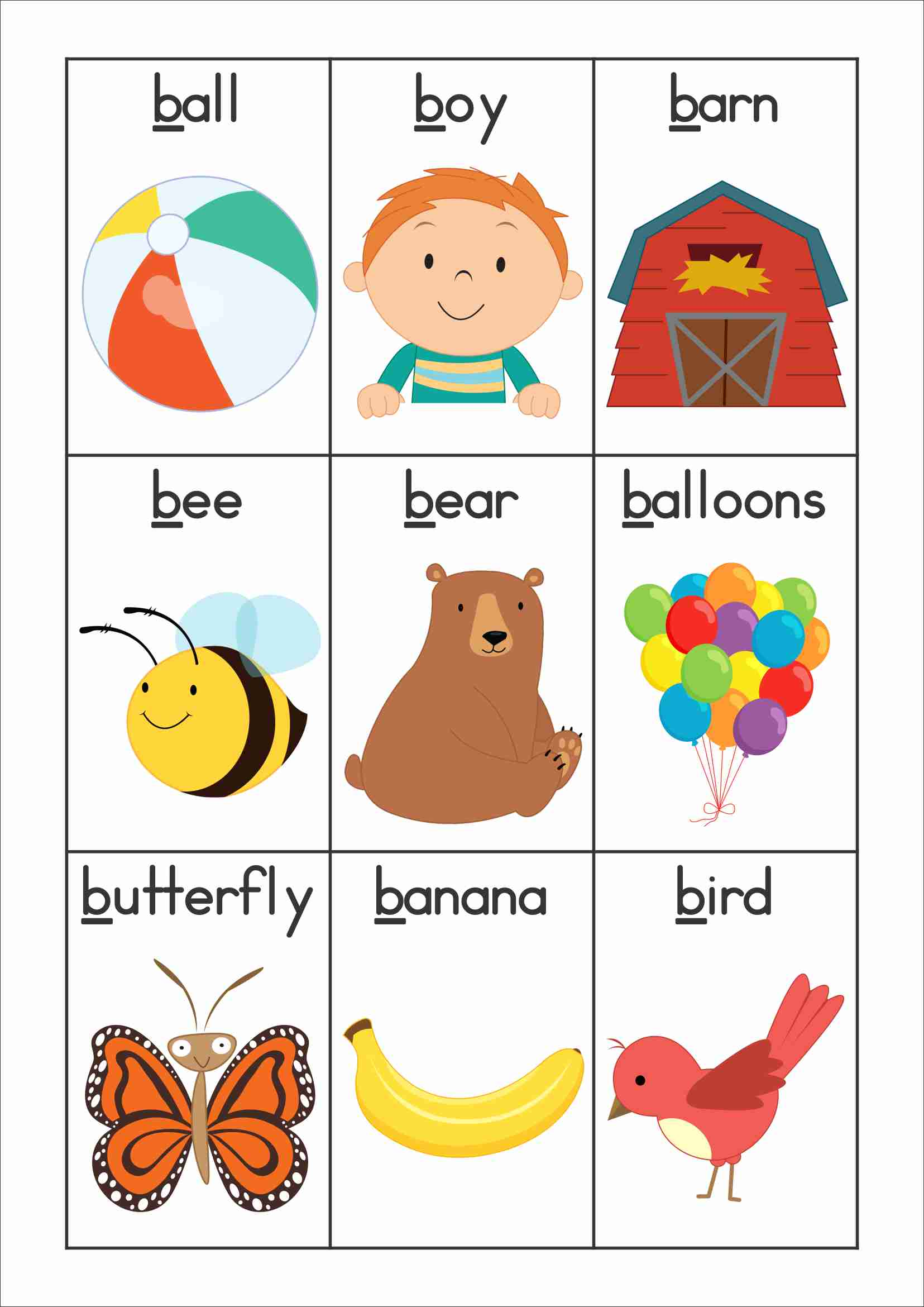 Letter clipart vocabulary Week wall word or cards