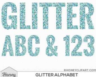 Letter clipart winter Turquoise white clip letter clipart