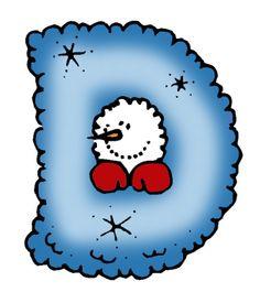Letter clipart winter A ABC D *✿* Pinterest