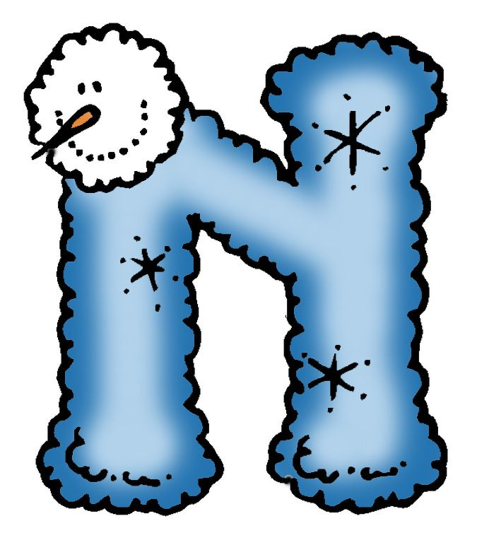 Letter clipart winter & about Letters images Winter