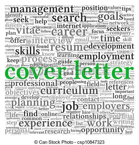 Letter clipart word art Word white Cover letter of
