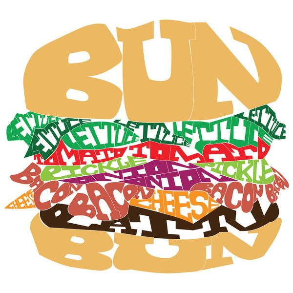 Letter clipart word art # art in is Burger