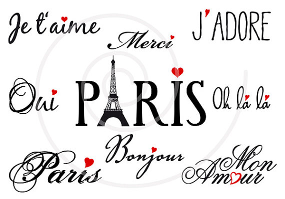 Word clipart french Art EPS clipart clip Illustree