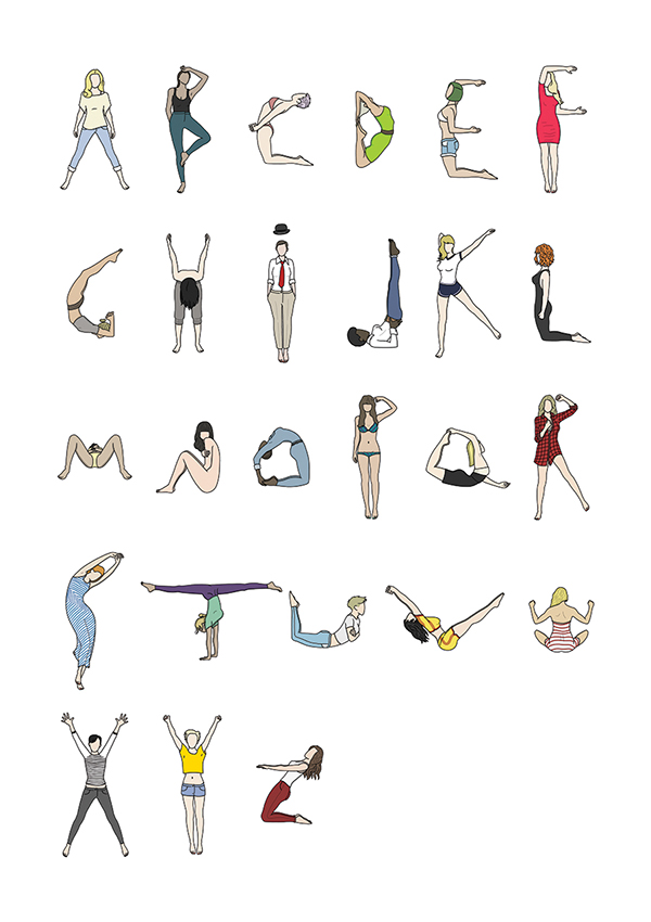 Letter clipart yoga By Letters Body By Body