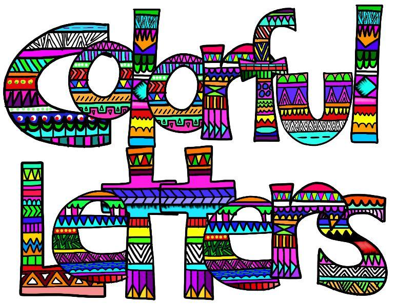 Lettering clipart Letters