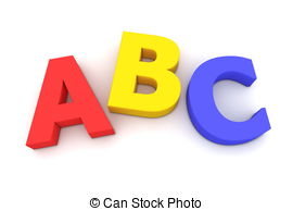 Lettering clipart abc Multicoloured on Colourful Abc ABC
