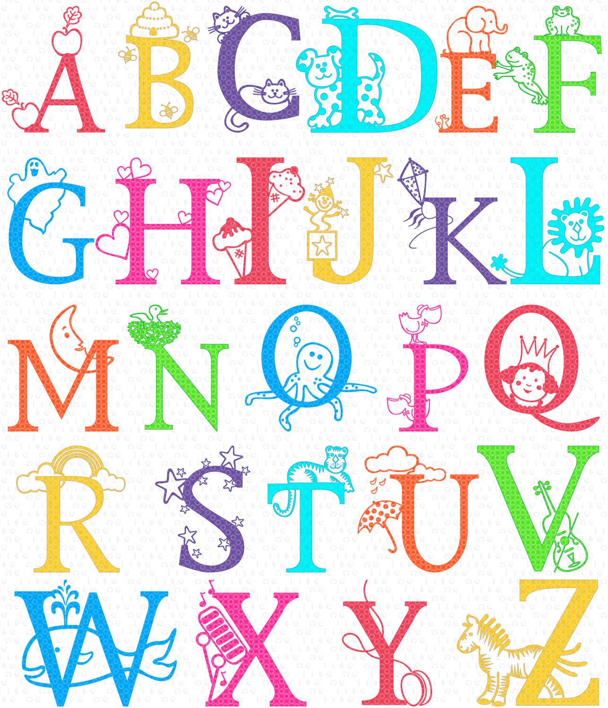 Lettering clipart alphabet School  ClipartAndScrap Alphabet clipart
