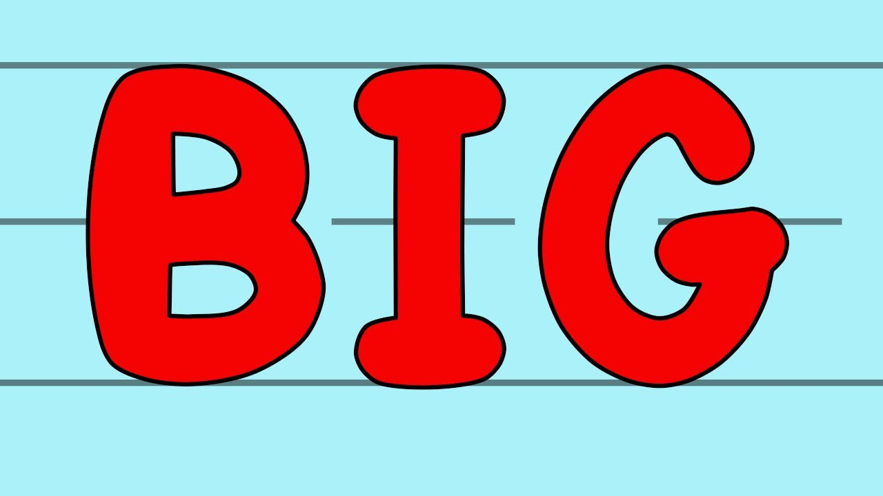 Lettering clipart big And Song YouTube Big Letters