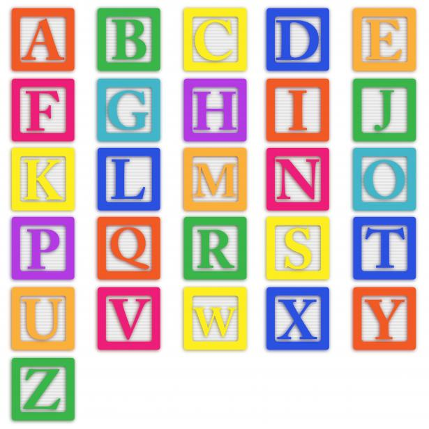 Library clipart vector free download Alphabet domain Baby Letters Blocks