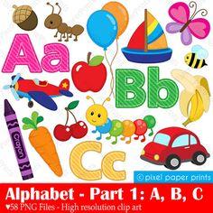 Lettering clipart bug / ABC art Clipart Part