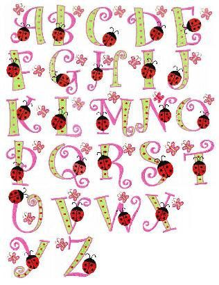 Lettering clipart bug Inch font embroidery Pinterest cute