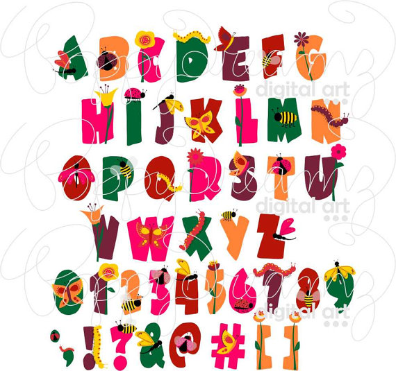Lettering clipart bug Png) file Bug Pack a