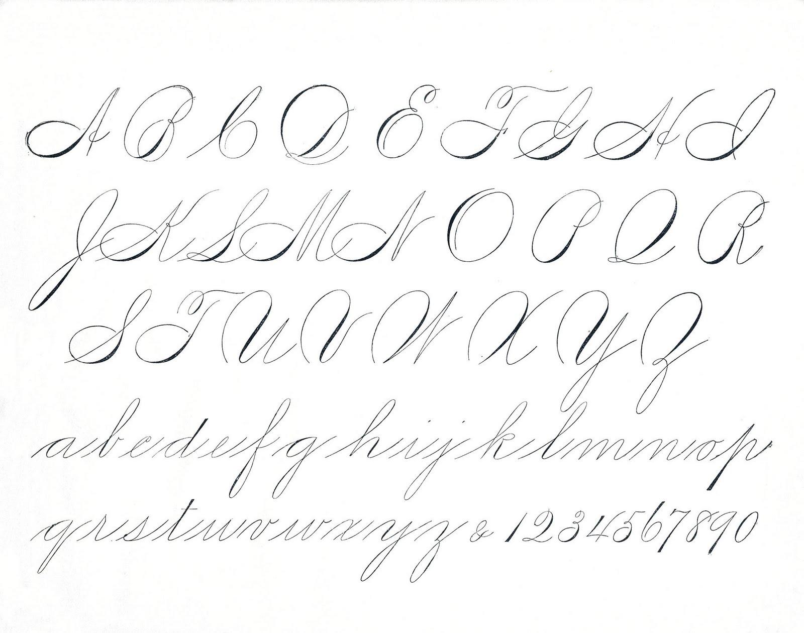 Calligraphy clipart creative Antique Script Clip Spencerian Free