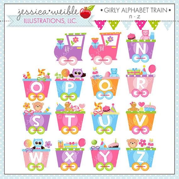 Train clipart alphabet #4