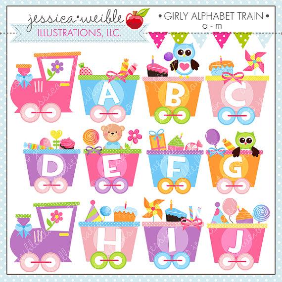 Train clipart alphabet #5