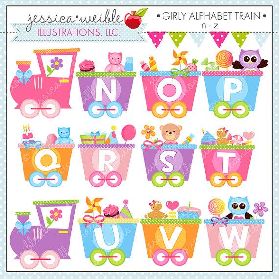 Train clipart alphabet #3