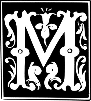 Lettering clipart decorative letter m Decorative letter Free Free graphic